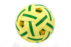 Rattan Ball. For  play on white background Stock Photography