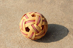 Rattan ball ball in daylight Stock Images