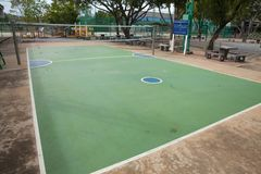 Rattan ball court at noon. In thailand stock photography