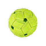 Rattan ball green color background white isolate Royalty Free Stock Photography