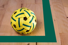 Rattan ball in a gym Royalty Free Stock Image