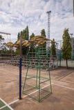 Rattan ball umpire Chair Stock Photography