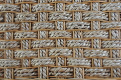 Rattan bamboo woven background mosaic Stock Photos