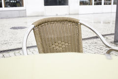 Rattan bar chair Stock Photo