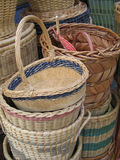 Rattan Basket. Handicraft sold in Arab Street. A lot of asian like to use rattan basket to store things Royalty Free Stock Image