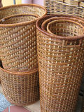 Rattan Basket. Found in Arab St, Singapore. Asian like to use this for storage Stock Images