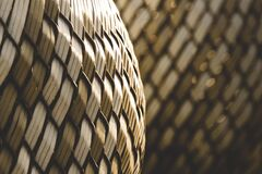 Rattan basket Stock Image
