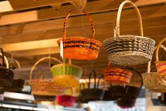 Rattan basket Stock Photo