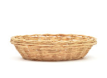 Rattan basket isolated Stock Photos