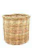Rattan basket on isolated white Stock Photos