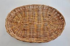 Oval rattan basket Stock Image