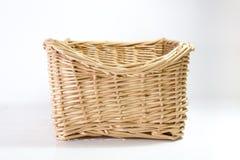 Rattan Basket. White Background Royalty Free Stock Photo
