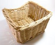 Rattan Basket. White Background stock image