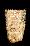 Rattan Basket wicker is Thai handmade in black isolate Royalty Free Stock Image