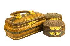 Rattan basketry handbag Royalty Free Stock Photo