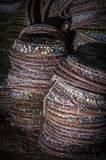 Rattan baskets Royalty Free Stock Image