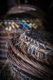 Rattan baskets Royalty Free Stock Photography