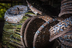 Rattan baskets Royalty Free Stock Photo