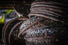 Rattan baskets Royalty Free Stock Images