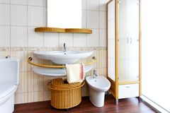 Rattan bathroom Royalty Free Stock Images