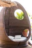 Rattan beach hut Royalty Free Stock Images
