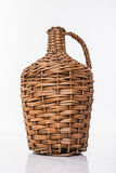 Rattan bottle Stock Image