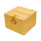 Rattan box Royalty Free Stock Image