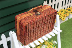 Rattan box Stock Images