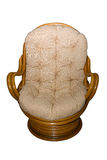 Rattan chair Stock Photo