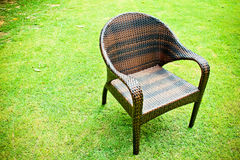 Rattan chair Stock Photography