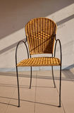 Rattan chair. Royalty Free Stock Photography