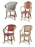 Rattan chairs Stock Photography