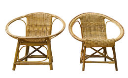 Rattan chairs. Wicker/rattan chairs isolated on white background Royalty Free Stock Photo