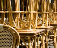 Rattan Chairs and Tables Royalty Free Stock Photo