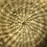 Rattan. Circle basketry bottom basket Stock Photos