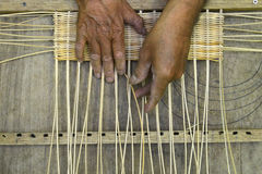 Rattan Craftsman Royalty Free Stock Image