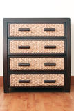 Rattan drawers in drawer cabinet Stock Photography