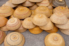 Rattan food cover. Image of traditional food cover made from rattan for sale at local market in Sarawak, East Malaysia stock images