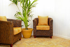 Rattan furniture Royalty Free Stock Photos