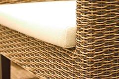 Rattan furniture. Close up of rattan furniture royalty free stock images