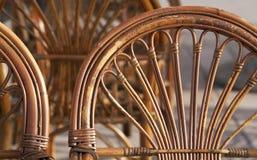 Rattan furniture details Royalty Free Stock Image