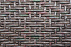 Rattan furniture woven pattern. Royalty Free Stock Images