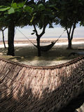 Rattan hammocks on the beach philippines Royalty Free Stock Images