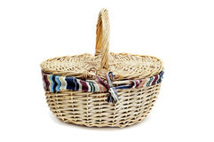 Rattan handbasket Stock Photo