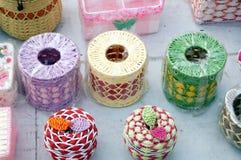 Rattan handicrafts Stock Photo