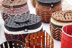 Rattan handicrafts Royalty Free Stock Photography
