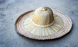 rattan hat for farmer Royalty Free Stock Photography