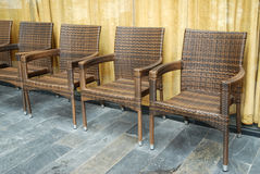 Rattan krzesła Fotografia Royalty Free