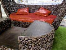 Rattan krzesło Zdjęcie Royalty Free