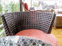 Rattan krzesło Zdjęcia Royalty Free